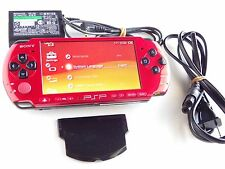 Sony PSP 3000 Red & Black Console w Charger & Battery Feel Free To Import UMD