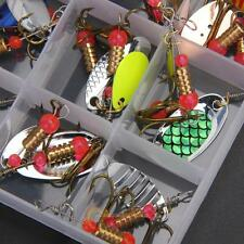 Lot 30pcs Trout Spoon Colorful Metal Fishing Lures Spinner Baits Bass Tackle