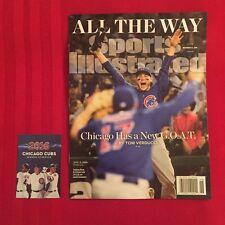 2016 Sports Illustrated Chicago Cubs World Series magazine + Sun-Times newspaper
