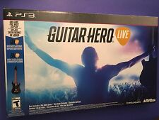 Guitar Hero Live Bundle + Wireless Guitar Controller for PS3 NEW