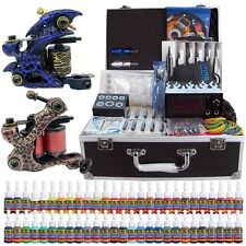 Solong Tattoo Kit 2 Tattoo Machine Guns Set 54 Ink Power Supply Needle TK221