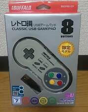 NEW Buffalo Super Famicom SNES SFC Classic USB Gamepad for Windows