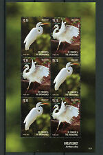 St Vincent & The Grenadines 2015 MNH Great Egret 6v M/S II Birds Egrets
