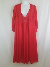 SHADOWLINE INew Women's Red 2 pc Gown Robe Peignoir Lingerie Set Plus Size 1X