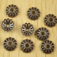 50pcs copper-tone flower charms findings h1376