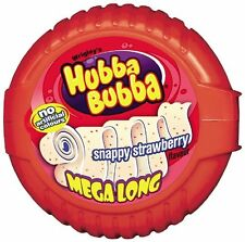 Hubba Bubba Bubble Tape Snappy Strawberry Bubble Gum (Pack of 12)