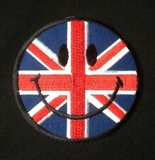 SMILEY FACE GREAT BRITAIN UNION JACK TEAM GB UK FLAG BADGE IRON SEW ON PATCH