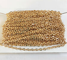 45 ft spool Gold Plated Flat Cable Chain 2x3mm