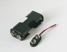 2 x AA battery holder for two batteries plus two PP3 clips UK stock
