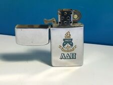 MASONIC ZIPPO LIGHTER FREEMASONRY VINTAGE SILVER SKINNY LION CREST EMBLEM USA US