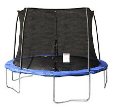 JumpKing 12' Foot ft. Outdoor Trampoline and Safety Net Enclosure Combo - Blue