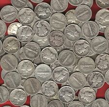 20 coin LOT- US *MERCURY DIMES* 90% Silver survivalist barter coins~ before 1946