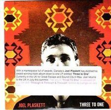 (CC464) Joel Plaskett, Three To One - 2010 DJ CD