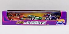Hot Wheels ED NEWTON'S LOWBOYZ Triclopz, Rareflow & Mercohaulic in Display Case