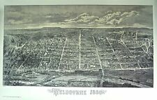 Melbourne reproduction antique 1880 print by A. Cooke