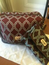 Diaper Bag set - timi & leslie Brown And Turquoise Preowned Quality