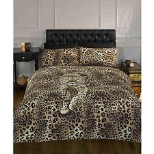 PROWLING LEOPARD KING SIZE DUVET COVER SET NEW ANIMAL PRINT