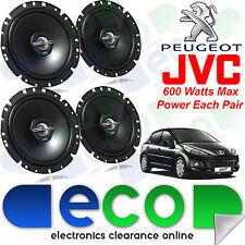 """Peugeot 207 2006 JVC 17cm 6.5"""" 1200 Watts 2 Way Front & Rear 3 Door Car Speakers"""