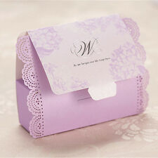 30 Pink Top Laser Cut Creative Wedding Favour Party Gift Candy Paper Box New