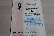 144249) Rabewerk Drehpflug Goldammer für Fordson Dextra Prospekt 02/1958