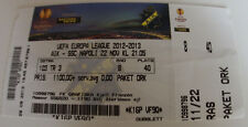Ticket for collectors EL AIK Solne - SSC Napoli Sweden Italy 2012