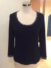 Olivier Philips Top Size 10 BNWT Black White, Spot Trim RRP £57 NOW £25