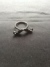 *SALE- Vintage Style Black Moustache Ring*