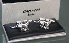 Novelty Cufflinks - Greyhound Dog Design - *Boxed*