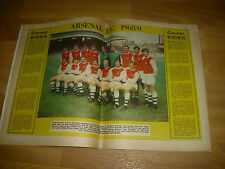 SOCCER Star Magazine ARSENAL Team Picture & Joe McBRIDE Celtic cover  02/08/68