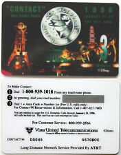 VISTA-UNITED PHONECARDS 3m Walt Disney World 'Contact 96' Convention Logo MINT