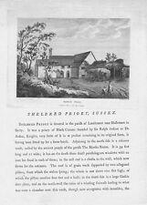 SHELBRED PRIORY Sussex - Antique Print 1782 by Francis Grose