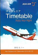 Airline Timetable - Jeju Air - 01/05/12 (Korea) - B737 cover - Style 2 - S