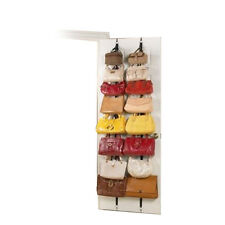 2 Over the Door Hanging Purse Clothes Hat Storage Closet Organizer Hanger Straps