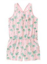 NWT Gymboree Hop n' Roll Palm Tree green Pink Romper Outfit Girls Size 6