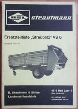 Strautmann et semi streubiltz vs 6 pièce de rechange liste