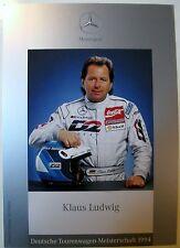 Autogrammkarte KLAUS LUDWIG DTM Meister1994 1992 MERCEDES Deutsche Tourenwagen