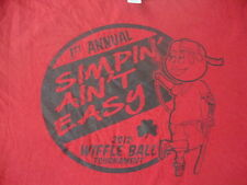 2012 Wiffle Ball Tournament Simpin Aint Easy pimp bat shamrock tattoo T shirt XL