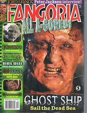 Fangoria #217 Ghost Ship LOTR The Ring Red Dragon Clive Barker Saint Sinner 2002