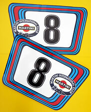 VINTAGE style Classic Car MARTINI RACE NUMBERS Ideal for PORSCHE ASTON JAGUAR