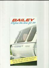BAILEY SCORPIO, PAGEANT AND SENATOR CARAVAN SALES BROCHURE 1989