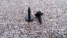 *4.8x19mm* JEEP BLACK SELF TAPPING TAPPER SCREW & WASHER (8mm HEX HEAD)