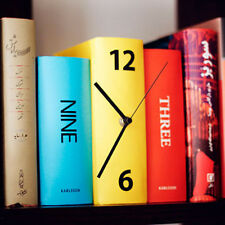 Novelty Stacked Book Clock Table Desk Clock Book Design BookShelf Clock