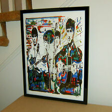 The Beatles, John Lennon Paul McCartney George Harrison Ringo 18x24 POSTER w/COA