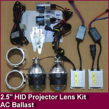 "New 2.5"" Bi-Xenon HID Projector Kit Lens Car Xenon HID KIT Retrofit Light AC 35W"