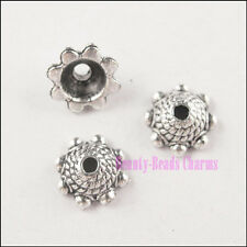 70Pcs Antiqued Silver Tone Cone End Bead Caps 8mm