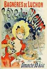 A4 photo CHERET Jules les affiches illustrees 1896 fete des fleurs imprimé Poster