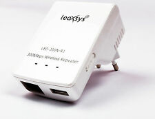 Leoxsys 300Mbps Wireless-N Wifi Repeater 802.11n Extender Router Range Booster