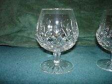Waterford Lismore Brandy Balloon Glass Lead Crystal Set of Two