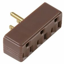 6 Pass Seymour 697CC20 15A 125V Brown Plug In 3 Way Electrical Outlet Adapters