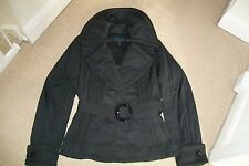 Escada Sport-black belted viscosa/polyester jacket.EU 38/42.Worn twice.RRP 576 E